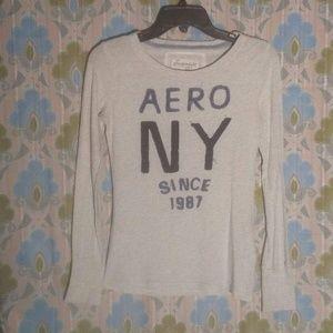 Aeropostale Light Grey Long Sleeve